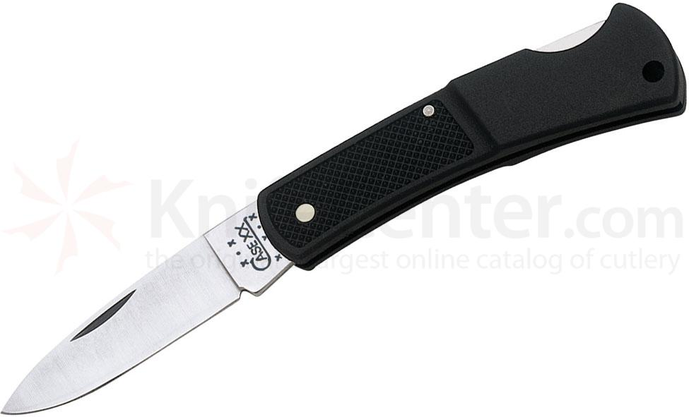Case 156 Lockback Folding Knife 3 inch Closed, Black Case Caliber Synthetic Handles (LT1225L SS)