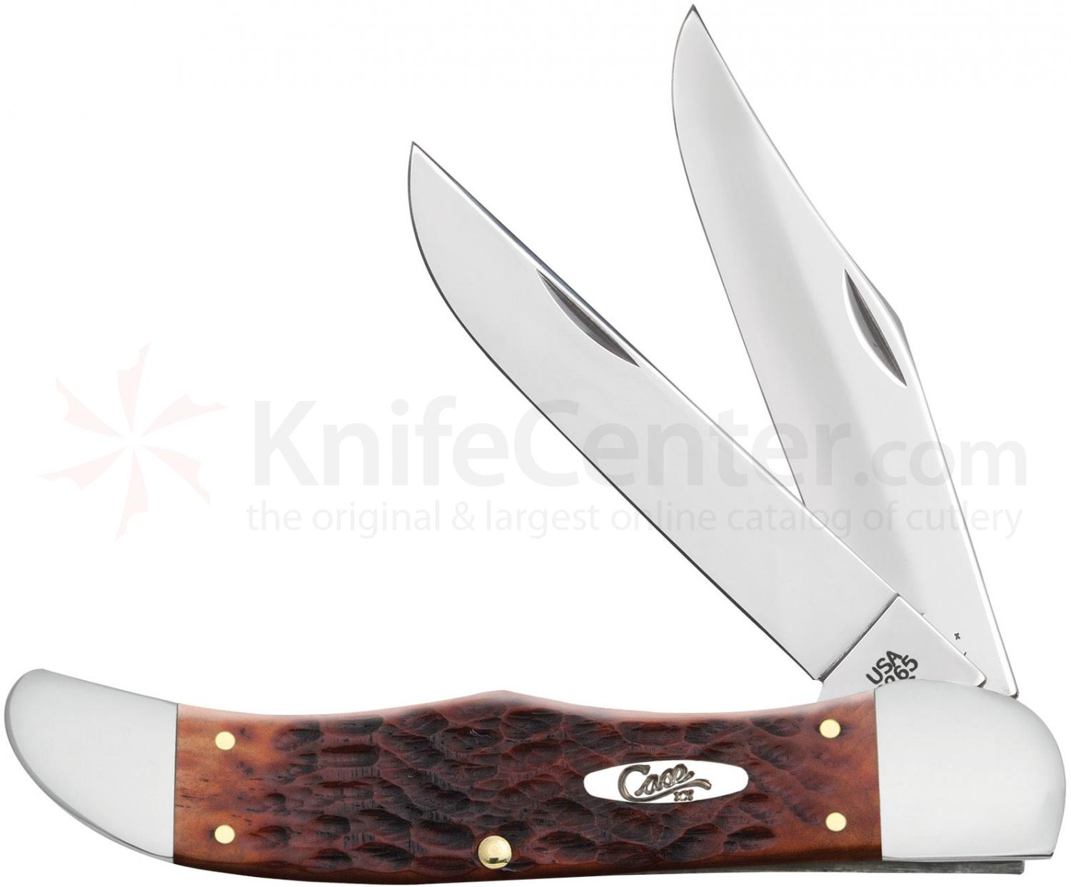 Case Chestnut Bone CV Folding Hunter 5-1/4 inch Closed (6265 CV)
