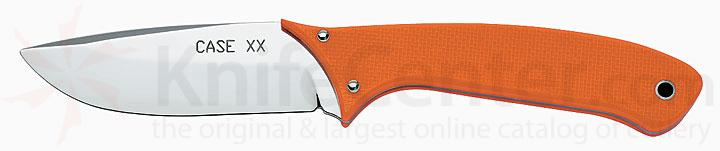 Case Orange G-10 Handle Hunter Fixed Drop Point Blade 8-1/2 inch Overall