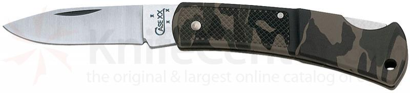 Case Caliber® Small Camo Lockback 3 inch Closed (LT1225L SS)
