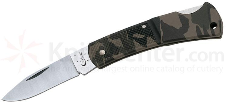 Case Caliber Small Camo Lockback 3 inch Closed (LT1225L SS)