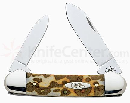 Case Leopard Print Series Canoe with Spear & Pen Blades