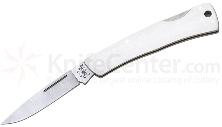 Case 041 Executive Lockback Folding Knife 3.125 inch Closed, Stainless Steel Handles (M1059L SS)