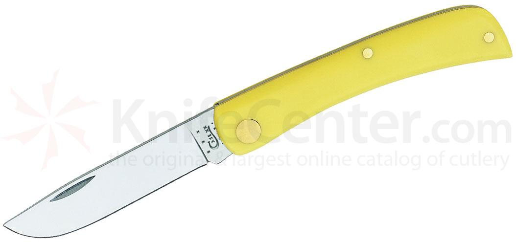 Case Sodbuster Jr. Pocket Knife 3.625 inch Closed, Yellow Synthetic Handles