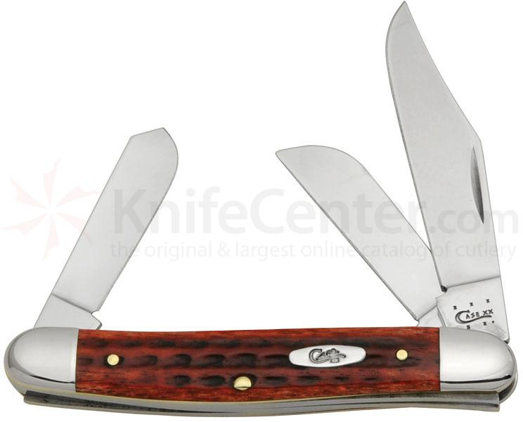 Case Pocket Worn Old Red Bone Stockman 3-7/8 inch Closed (6347 SS)