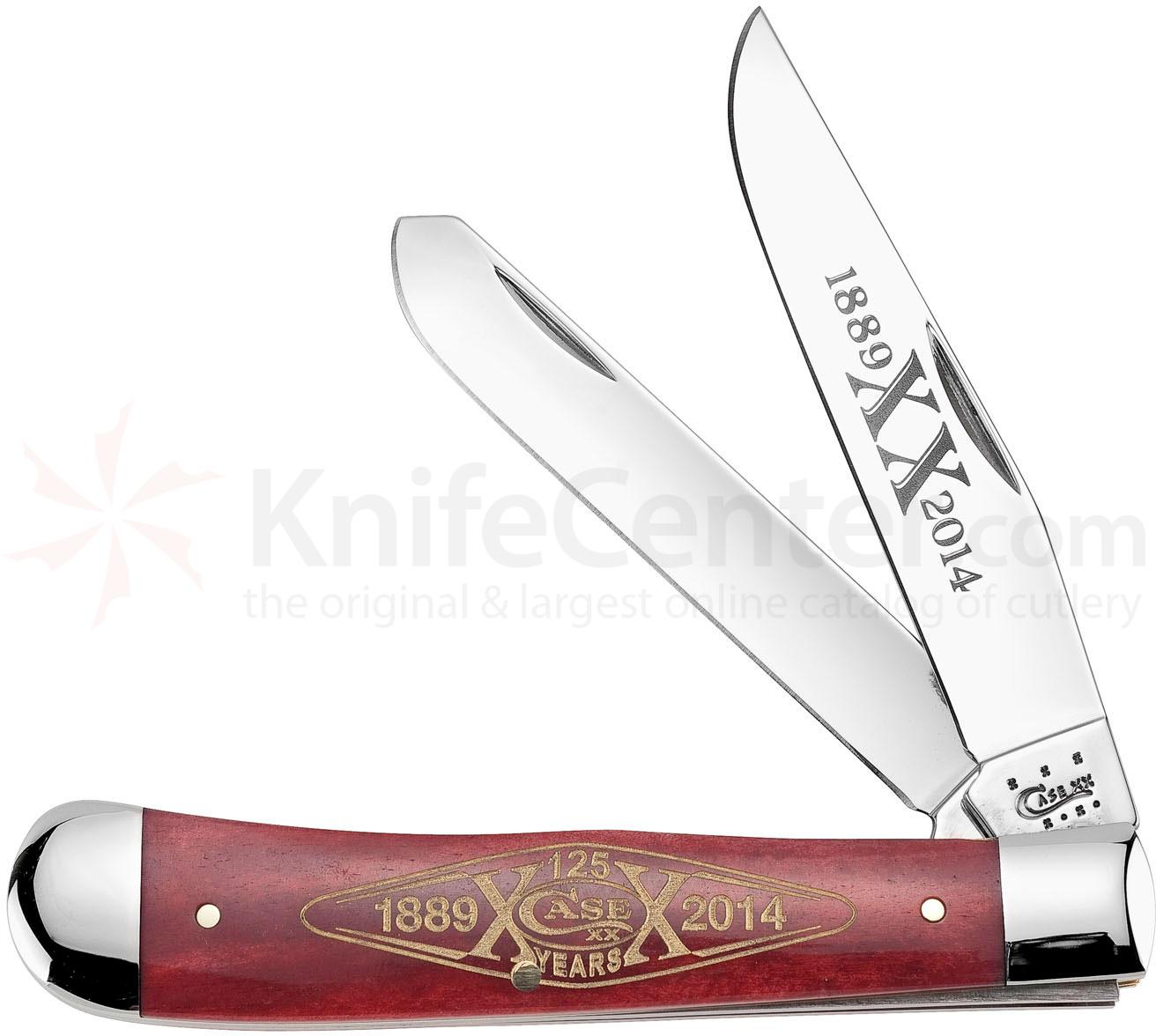 Case Smooth Red Bone Trapper 4-1/8 inch Closed (6254 SS)