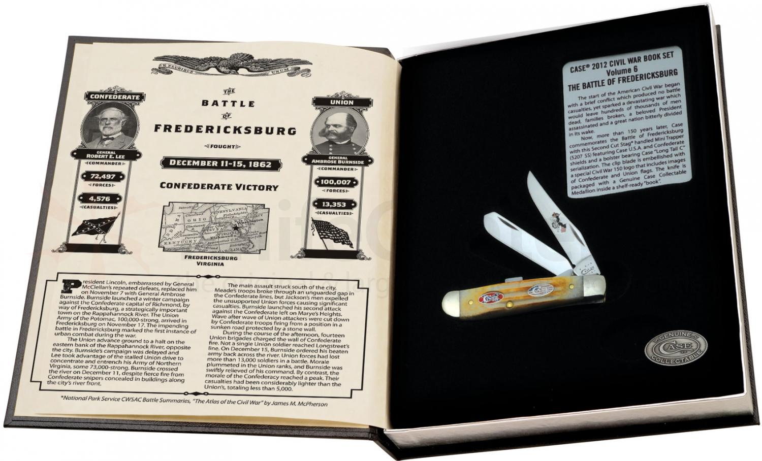 Case Civil War Commemoratives Mini Trapper Battle of Fredericksburg Set (5207 SS)