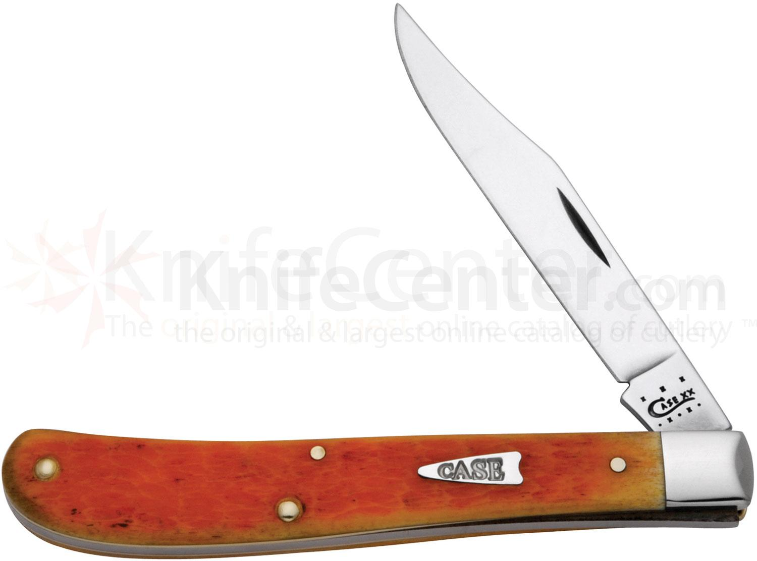 Case Orange Peel Bone Slimline Trapper 4-1/8 inch Closed (61048 SS)
