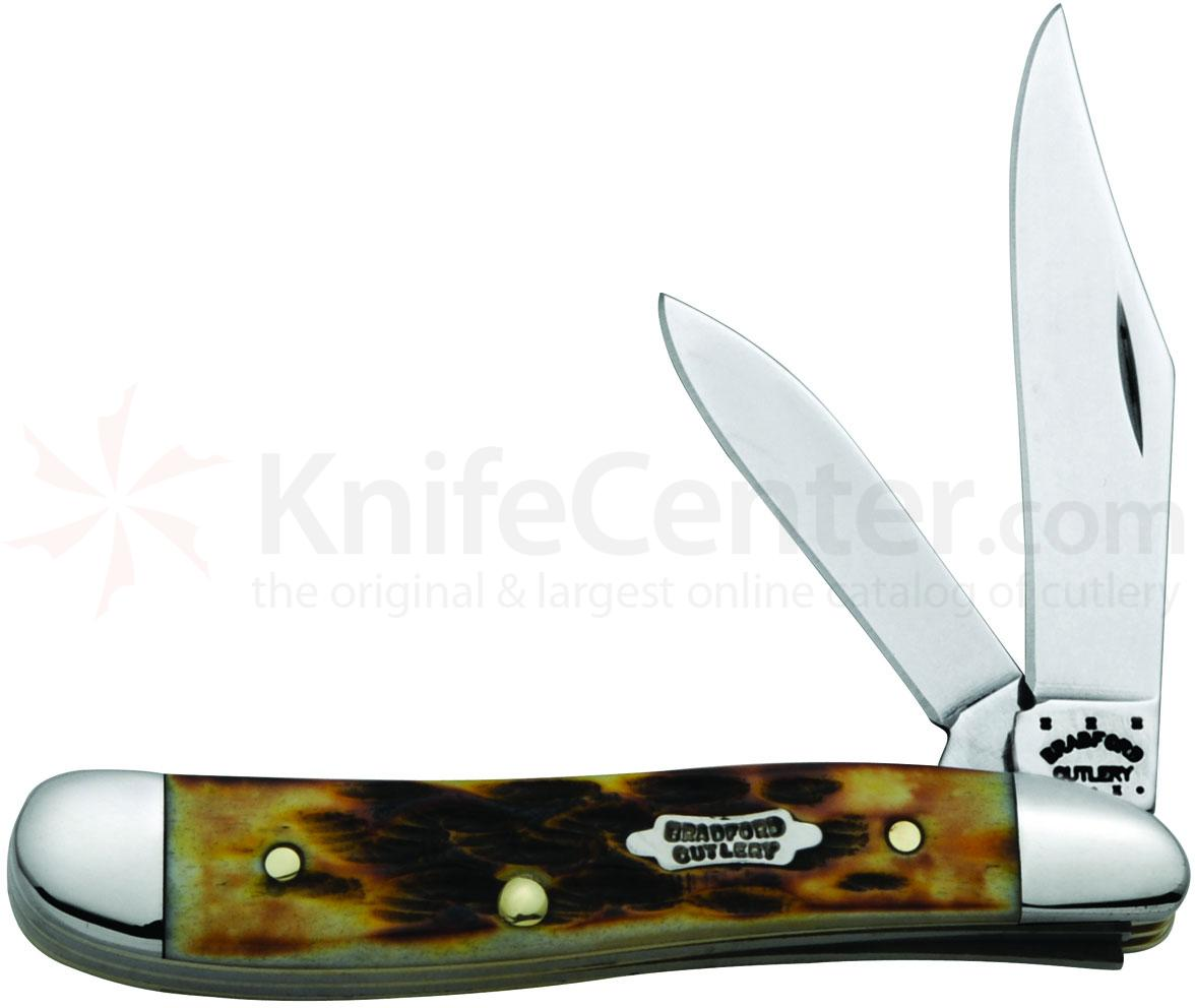 Case Bradford Cutlery Goldenrod Bone Peanut 2-7/8 inch Closed (6220 SS)