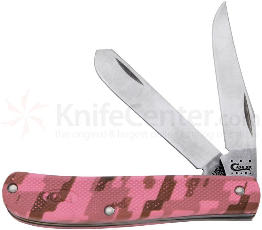 Case Lightweight Pink Camo Zytel Mini Trapper 3-1/2 inch Closed (LT207 SS)