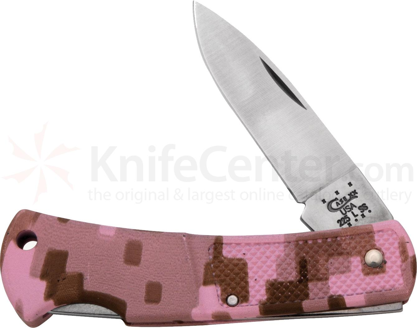 Case Lightweight Pink Camo Zytel Lockback 3 inch Closed (LT225L SS)