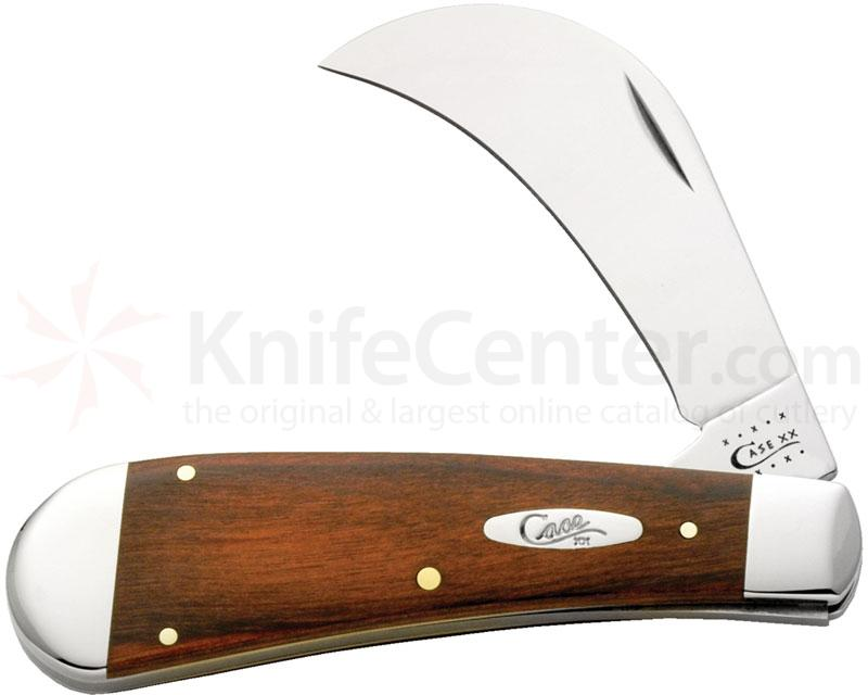 Case Rosewood Hawk Bill Pruner 4 inch Closed (71011 SS)