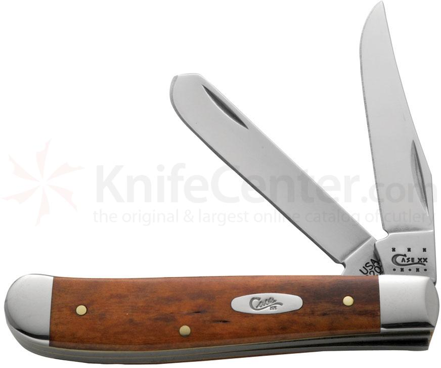 Case Smooth Chestnut Bone Mini Trapper 3-1/2 inch Closed (6207 SS)