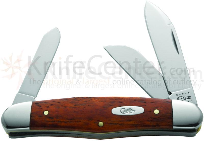 Case Smooth Chestnut Bone Humpback Stockman 3-5/8 inch Closed (63046 SS)