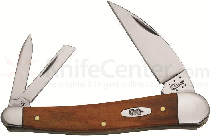 Case Smooth Chestnut Bone Seahorse Whittler 4 inch Closed (6355WH SS)