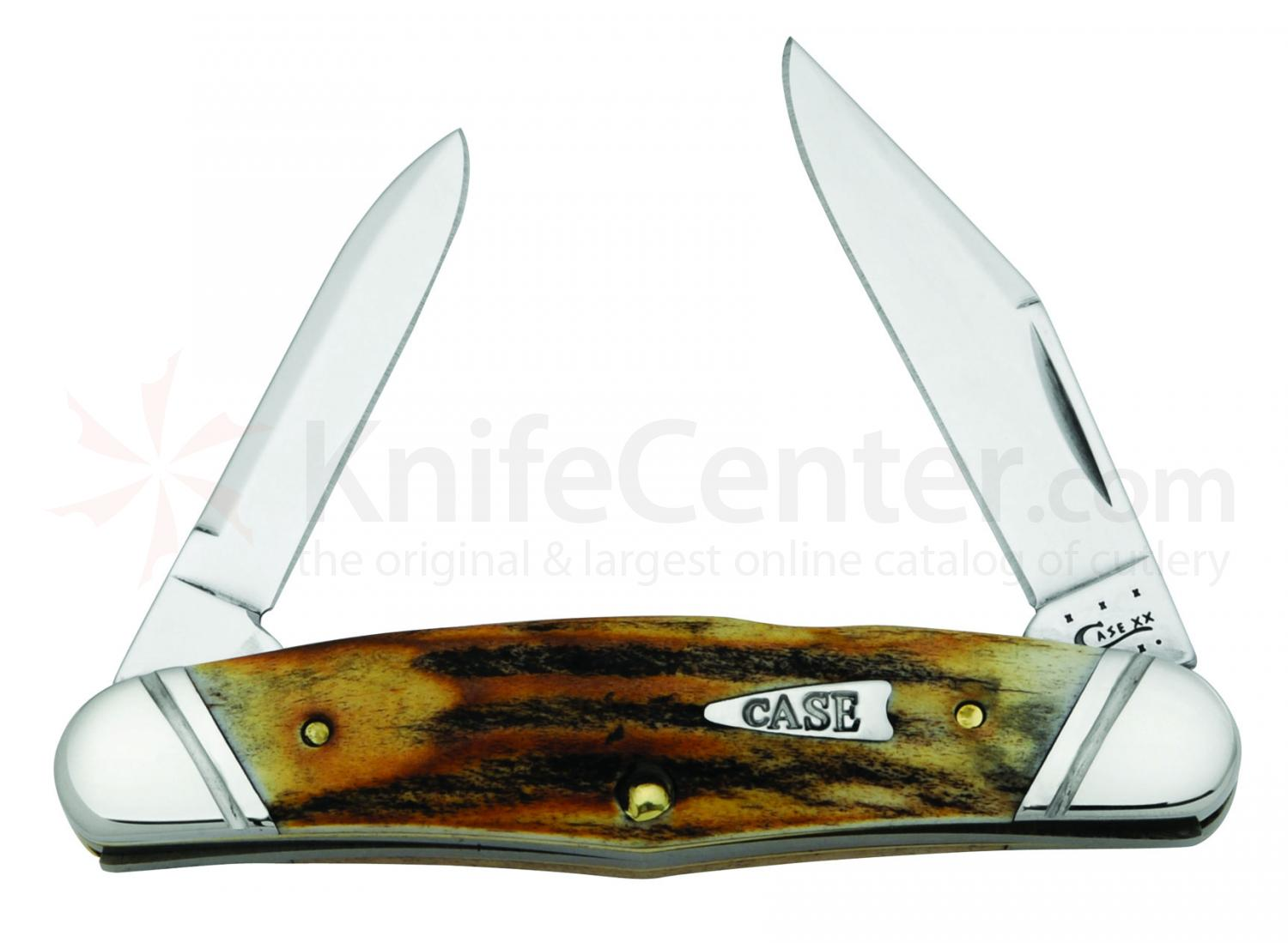 Case Genuine Stag Humpback Half Whittler 3-5/8 inch Closed (520461∕2 SS)