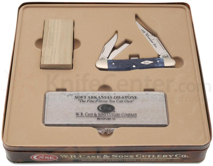 Case Blue Bone Whittler Gift Set 3-7/8 inch Closed (6347WH SS)