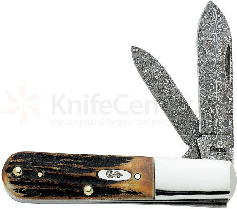 Case Stag Damascus Barlow 3-3/8 inch Closed (52009 DAM)
