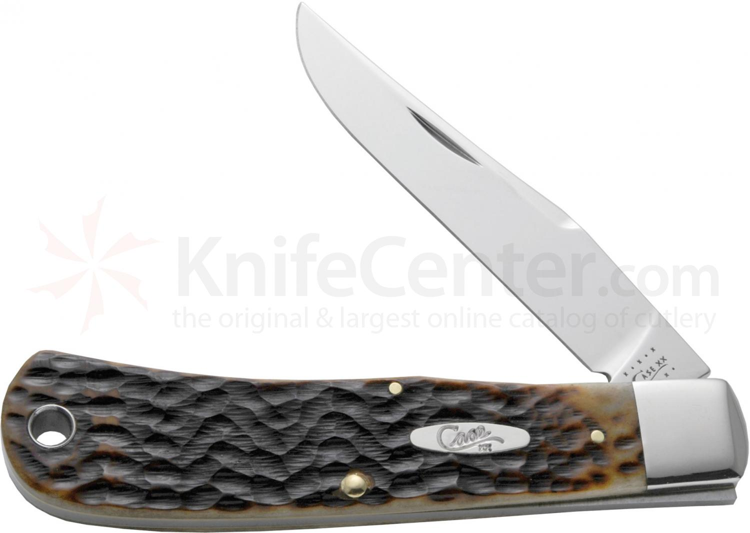 Case Tony Bose BackPocket Folding 3-1/2 inch Plain Blade, Jigged Molasses Bone Handles (TB61546 SS)