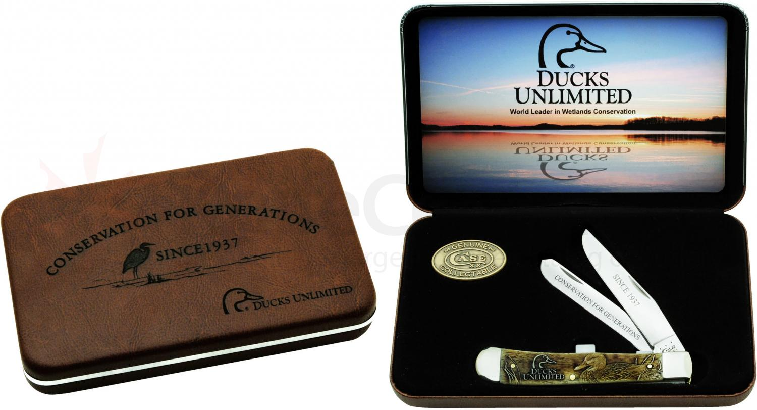 Case Ducks Unlimited Smooth Natural Bone Trapper Gift Set (6254 SS)