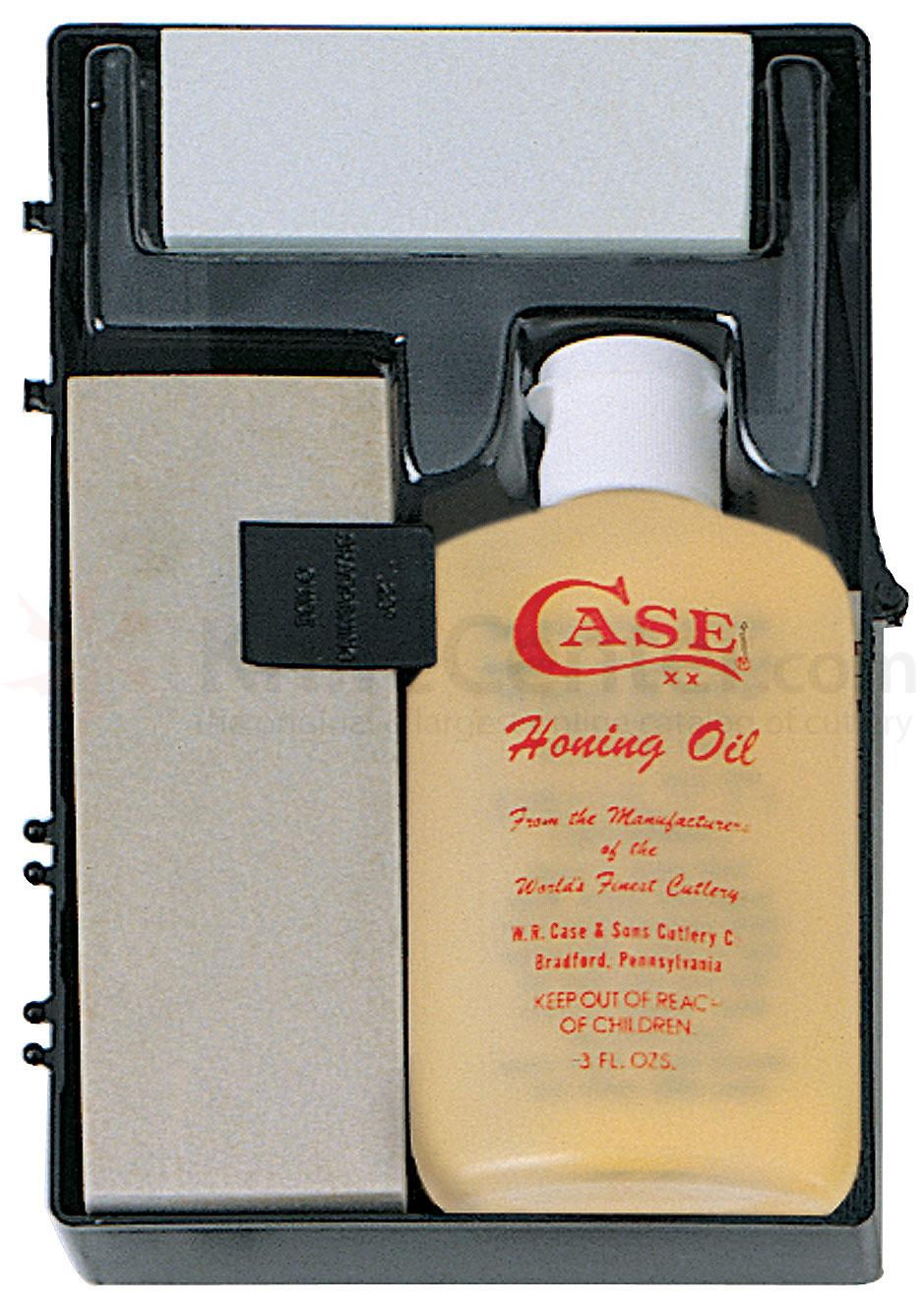 Case Sportsman's Honing Kit 924, 2 Arkansas Stones and Honing Oil