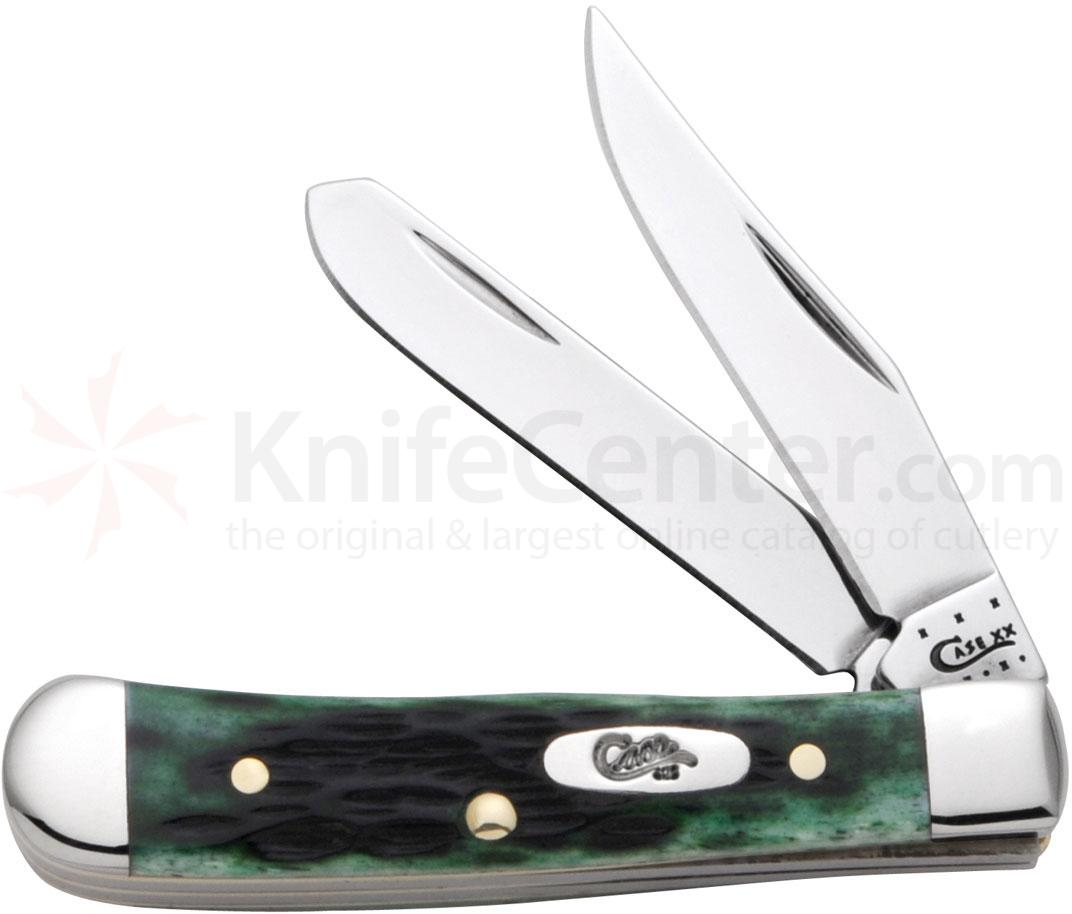 Case Pocket Worn Bermuda Green Bone Tiny Trapper 2-3/8 inch Closed (62154 SS)