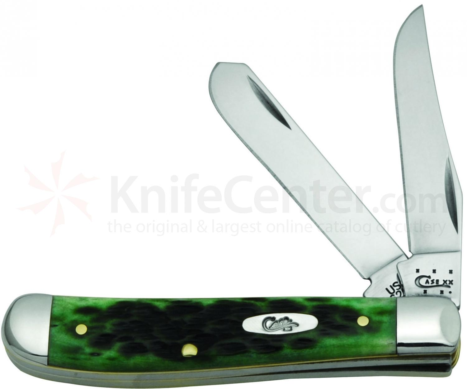 Case Pocket Worn Bermuda Green Bone Mini Trapper 3.5 inch Closed (6207 SS)