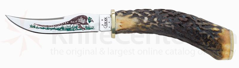 Case Pheasant 3-1/4 inch Fixed Blade Hunting Knife (523-3 1/4 SS)