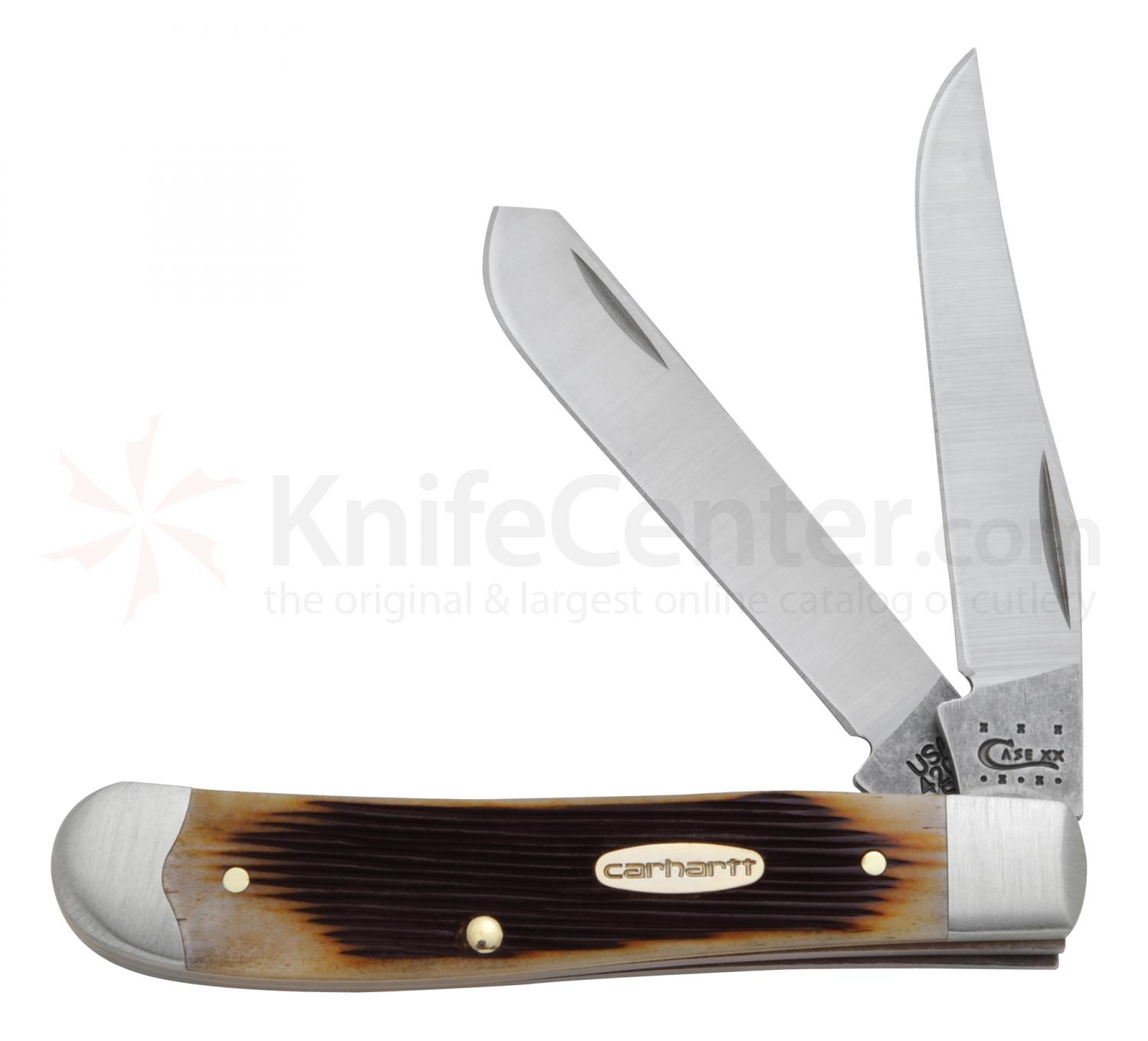 Case Carhartt Dark Molasses Bone Mini Trapper 3-1/2 inch Closed (6207 SS)