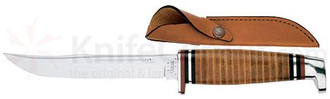 Case 5.0 inch Fixed Blade Leather Handle and Sheath 316 5 SS