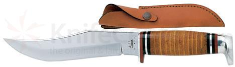 Case 6.0 inch Fixed Blade Leather Handle and Sheath 10.8 inch overall 381 6 SS