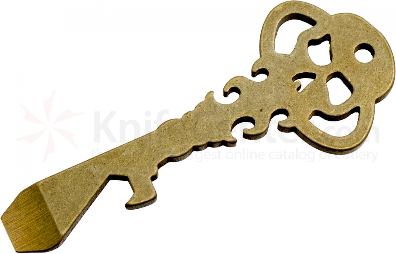 Chaves American Made Key Tool, Tumbled Brass, 3.5 inch Overall