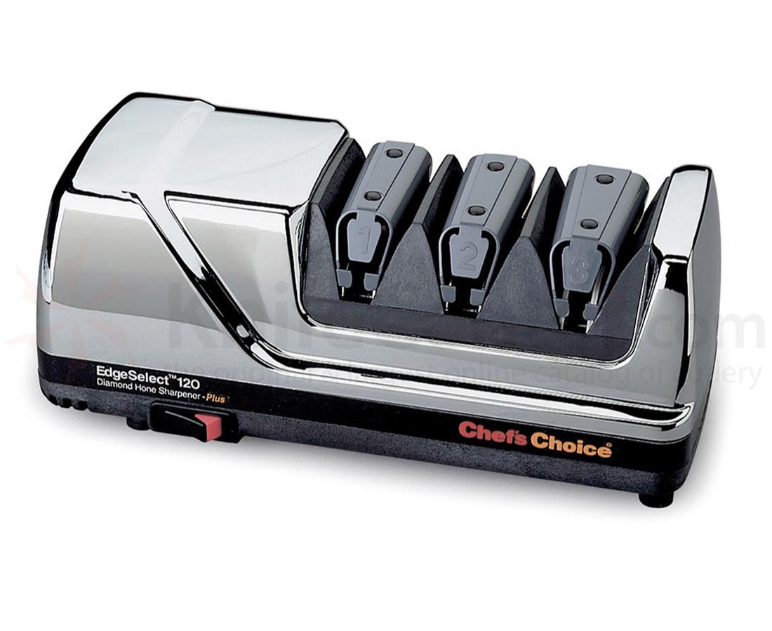 Chef's Choice EdgeSelect Chrome Case Deluxe 3 Stage Electric Diamond Sharpener
