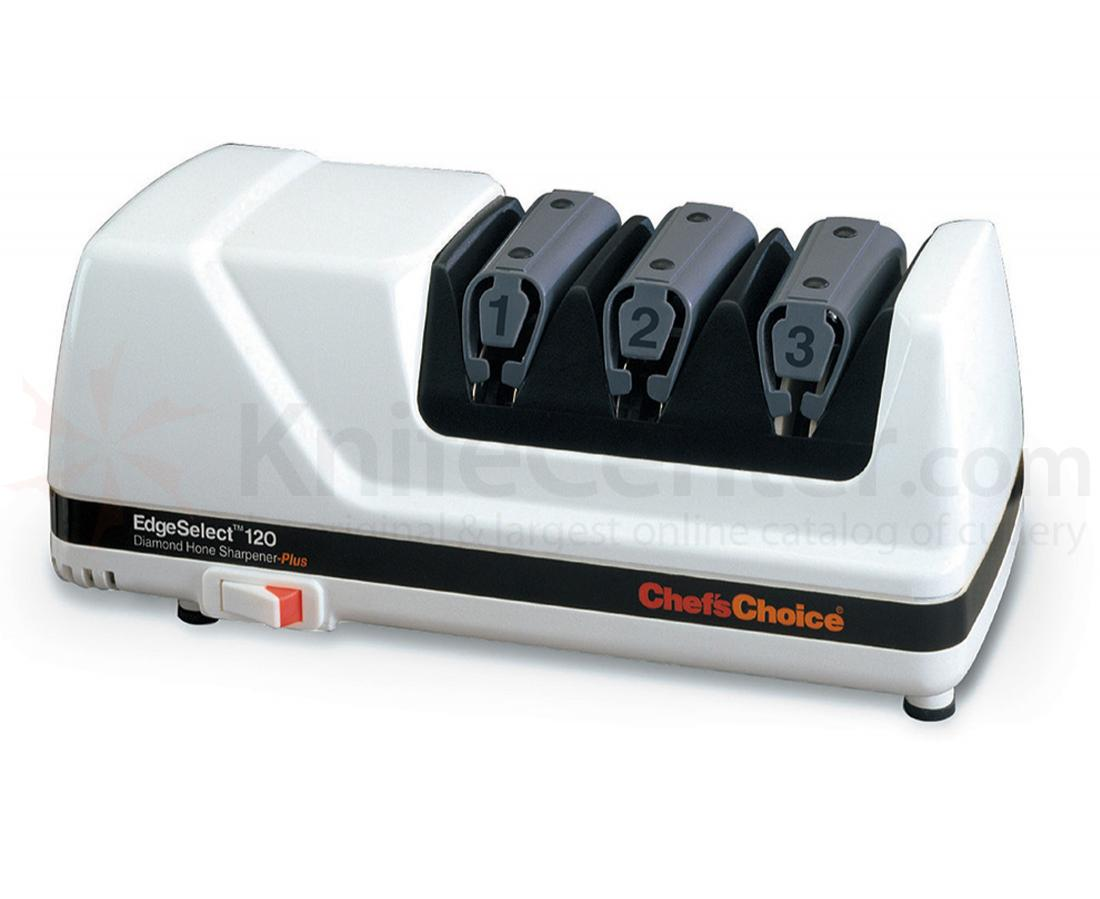Chef's Choice EdgeSelect White Case Deluxe 3 Stage Electric Diamond Sharpener