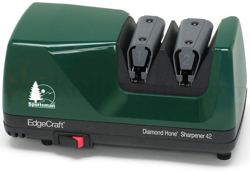 Chef's Choice Model 42 Sportsman Diamond Hone Sharpener, Hunter Green