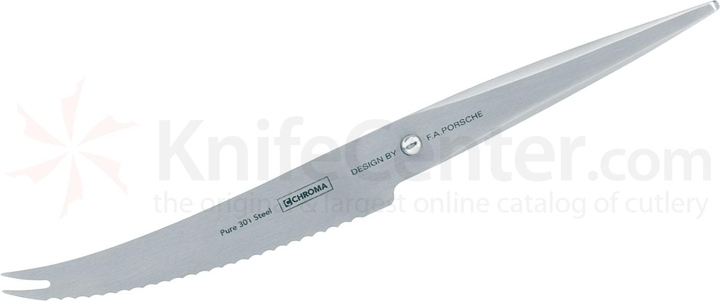 Chroma Cutlery F.A. Porsche Type 301 5 inch Tomato Knife, Japanese 301 Stainless Steel