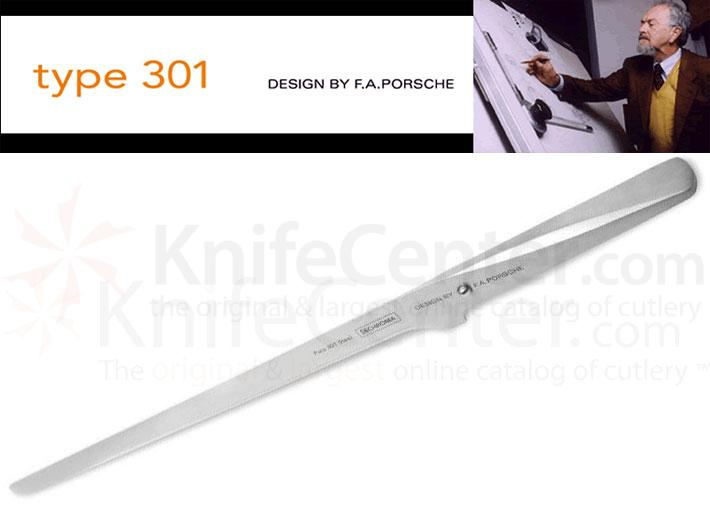 Chroma Cutlery F.A. Porsche Type 301 12-1/4 inch Ham and Salmon Knife, Japanese 301 Stainless Steel