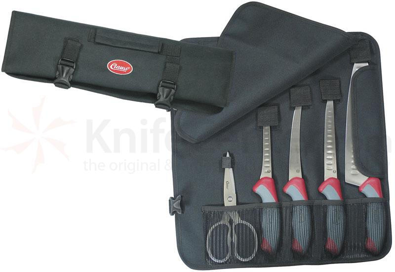 Clauss True Professional Field Dressing Kit Four Knives Scissors and Case