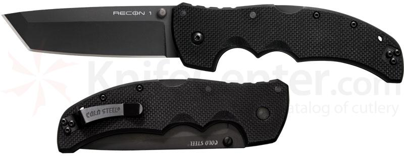 Cold Steel 27TLT Recon 1 Tanto 4 inch Plain Blade, G10 Handles