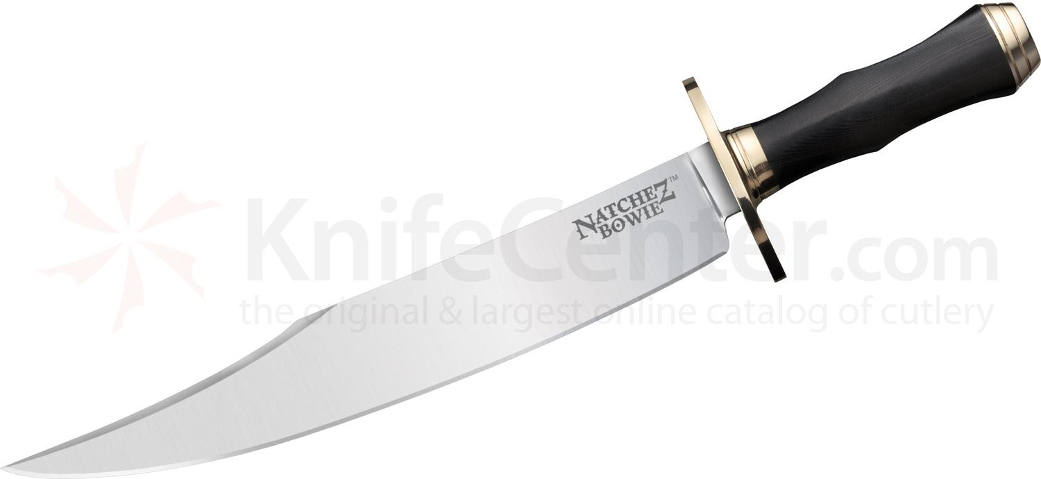 Cold Steel 39LABMS Natchez Bowie Fixed 11.75 inch O-1 Blade, Black Micarta Handles, Secure-Ex Sheath