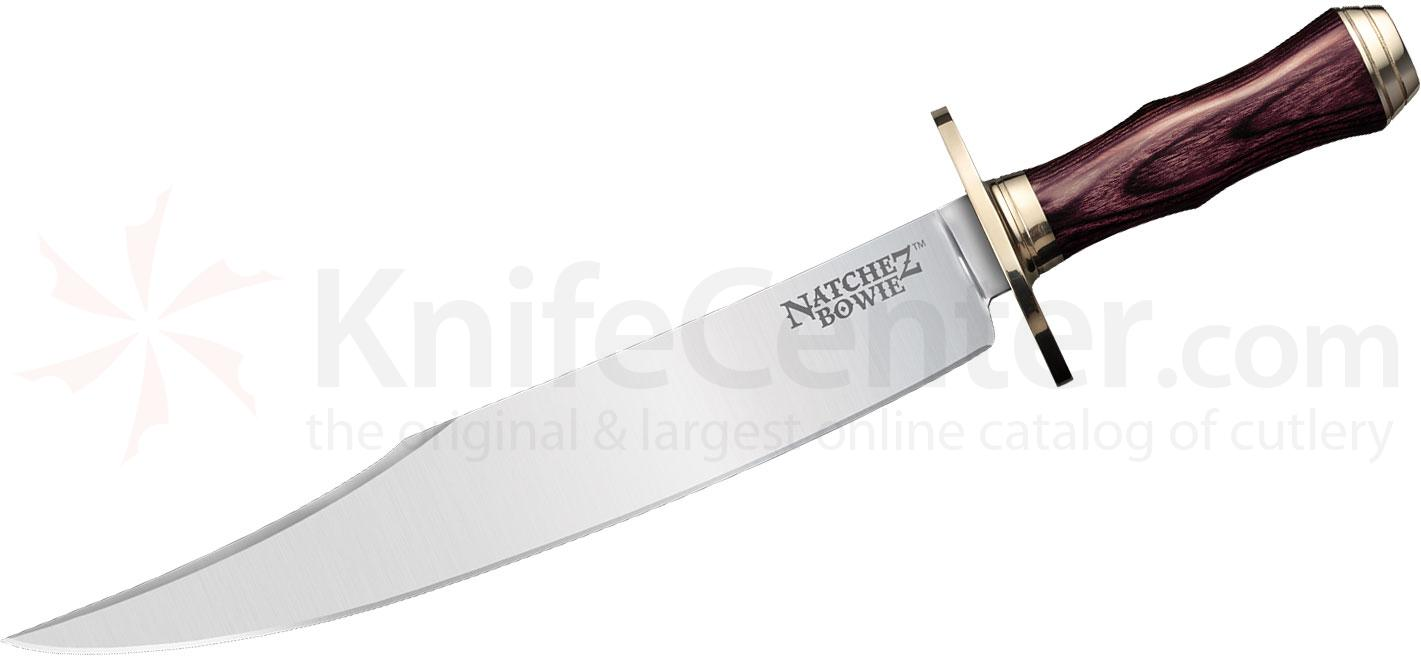 Cold Steel 39LABS Natchez Bowie Fixed 11-3/4 inch O-1 Blade, Faux Cocobolo Handles