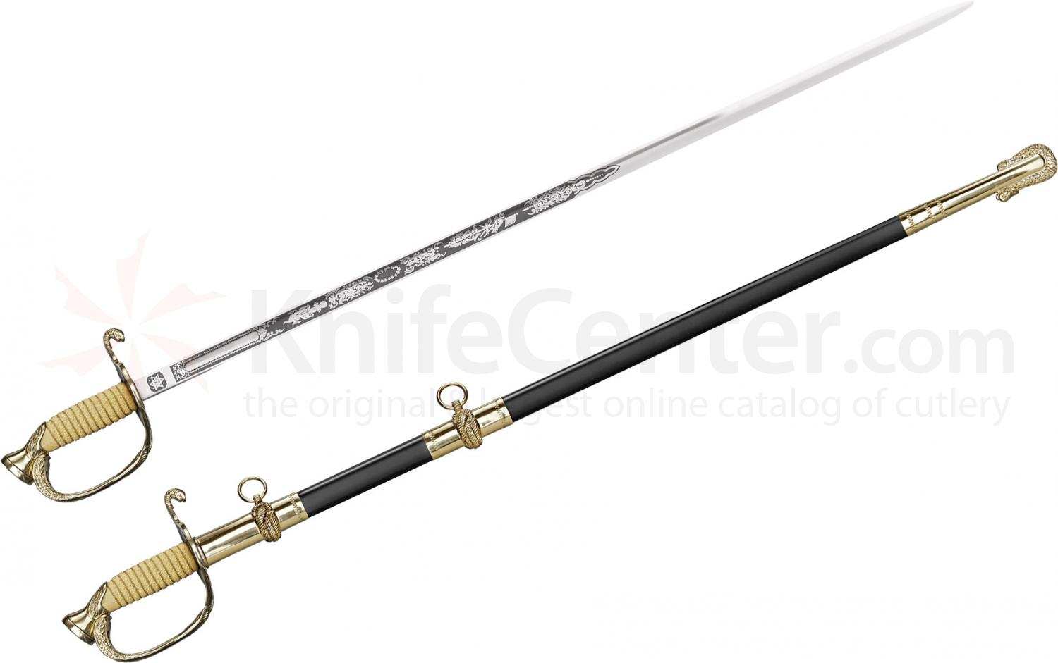 Cold Steel 88MNA U.S. Naval Officer's Sword 32 inch Carbon Steel Blade