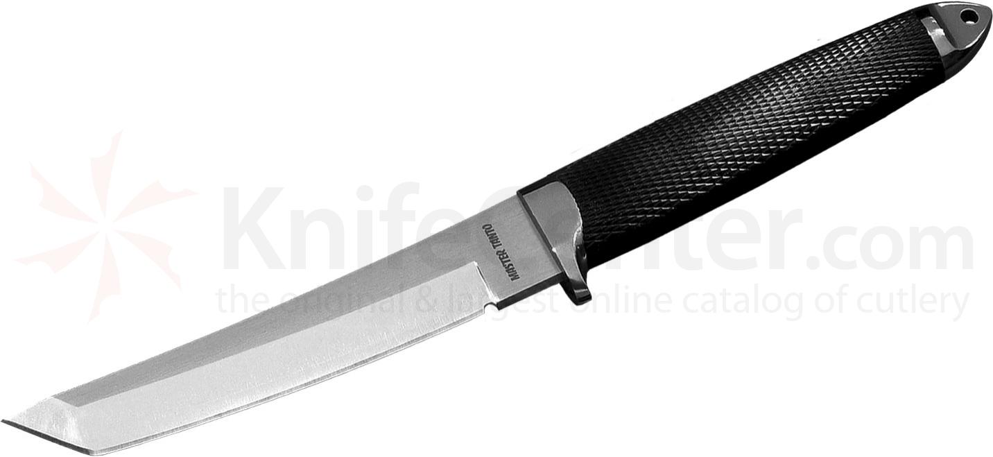 Cold Steel 13BN Master Tanto Fixed 6 inch San Mai III Blade, Kray-Ex Handle, Leather Sheath