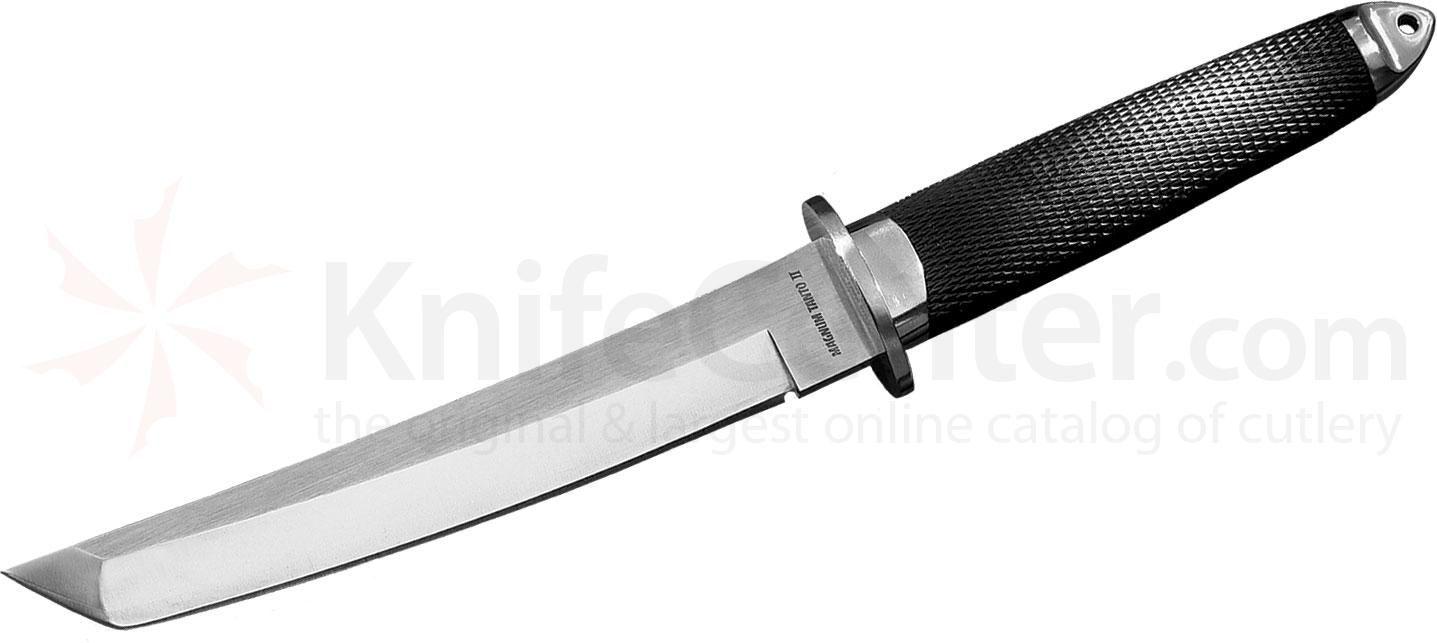 Cold Steel 13MBII Magnum Tanto II Fixed 7-1/2 inch San Mai III Blade, Kray-Ex Handle, Leather Sheath