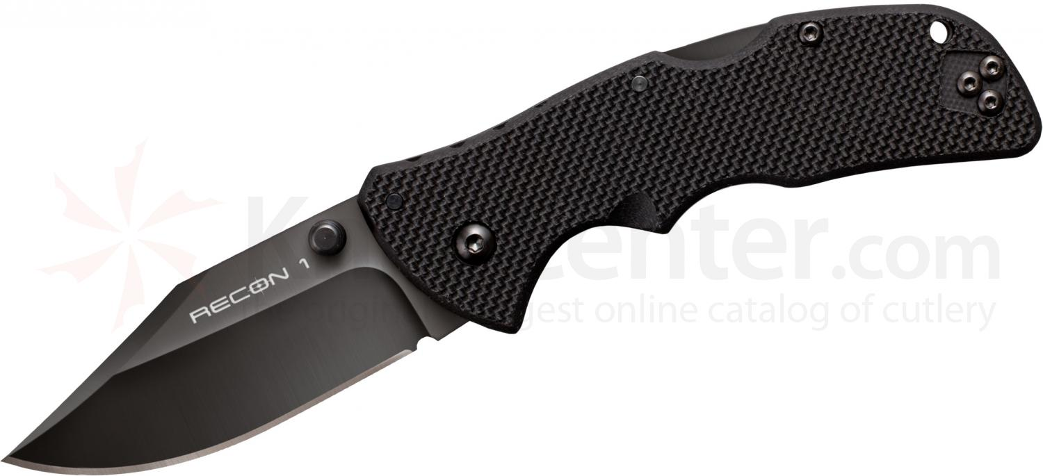 Cold Steel 27TMCC Mini Recon 1 Clip Point 3 inch CTS-XHP Plain Blade, G10 Handles