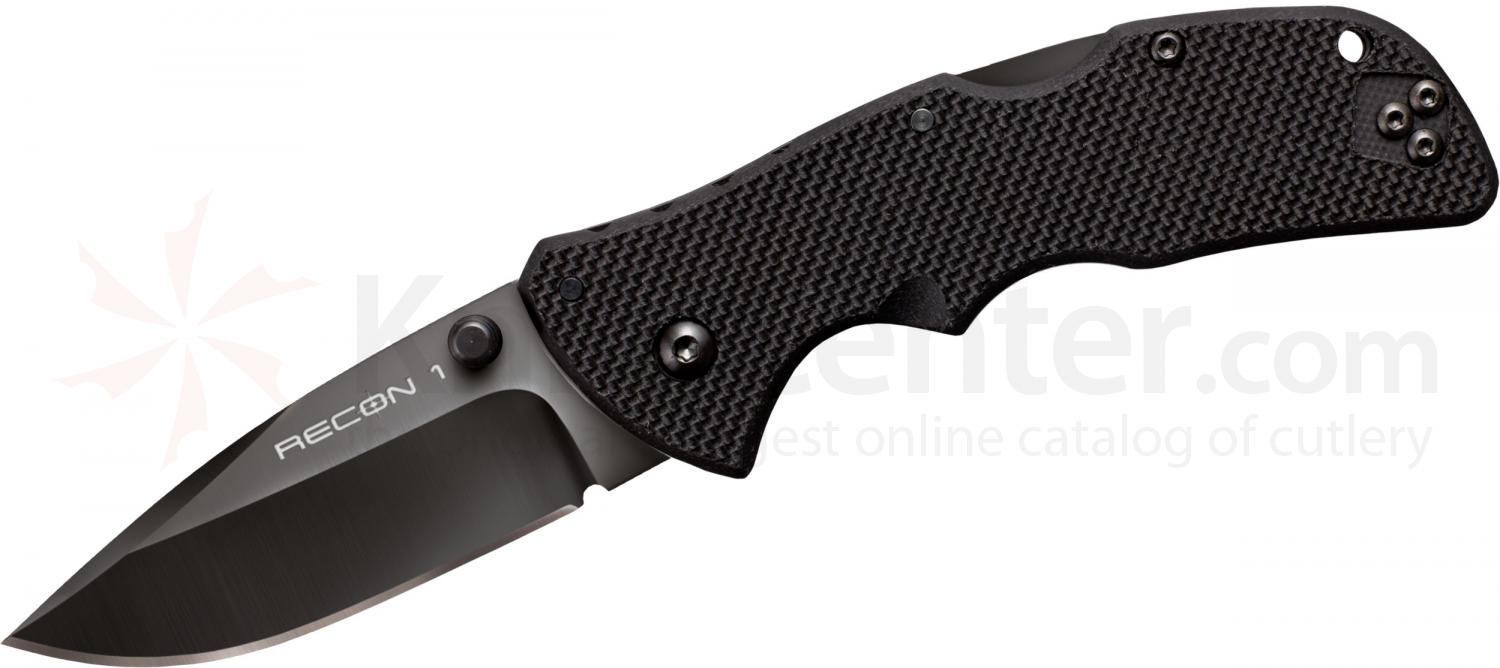Cold Steel 27TMCS Mini Recon 1 Spear Point 3 inch CTS-XHP Plain Blade, G10 Handles