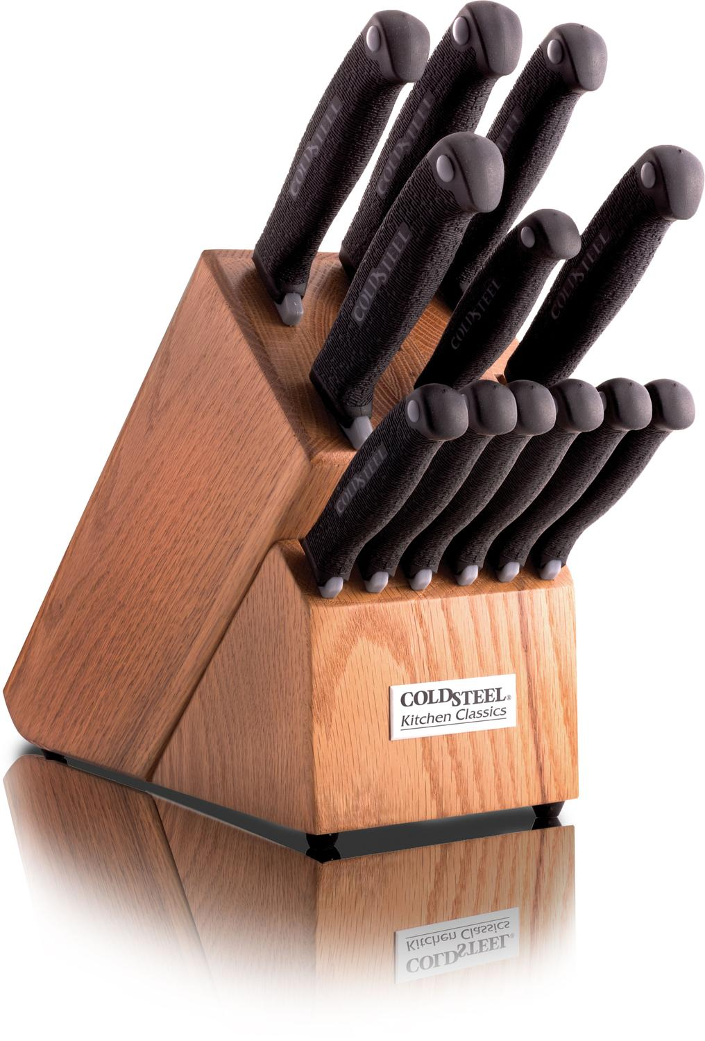 Cold Steel Kitchen Classic Set Knives With Block