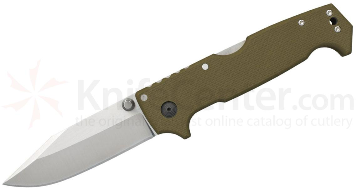 Cold Steel 62L SR1 Folding Knife 4 inch S35VN Clip Point Blade, OD Green G10 Handles