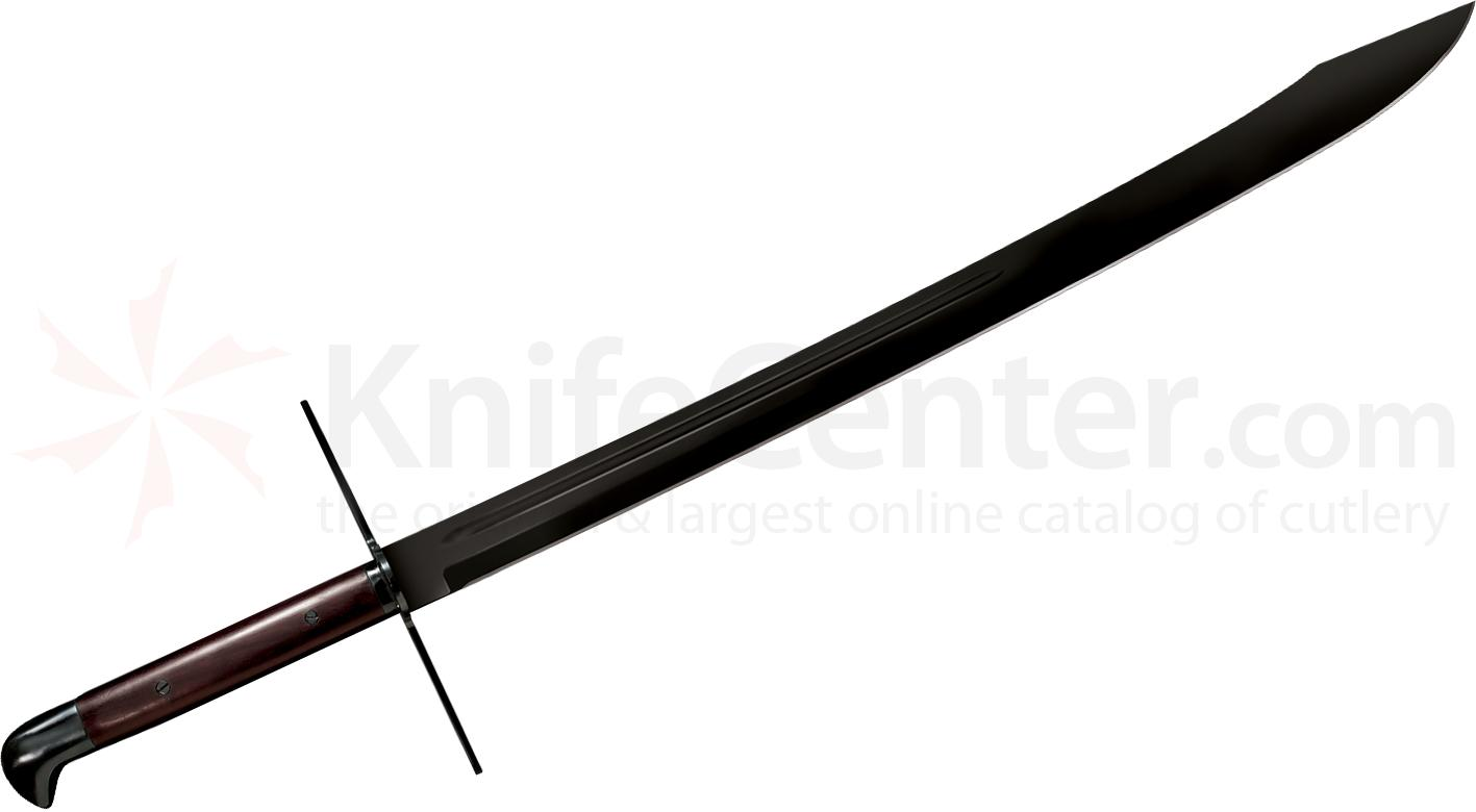 Cold Steel 88GMSM Man at Arms Grosse Messer Sword 32 inch Blued Carbon Steel Blade, Leather Sheath