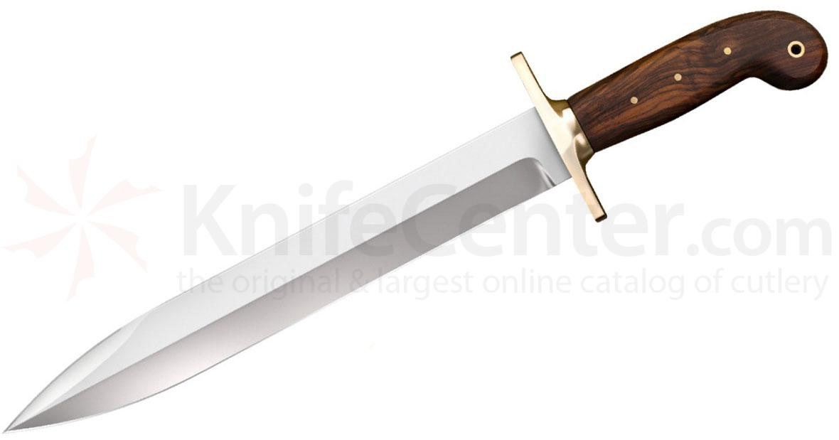 Cold Steel 88GRB 1849 Rifleman's Knife Fixed 12 inch Blade, Rosewood Handle, Leather Scabbard